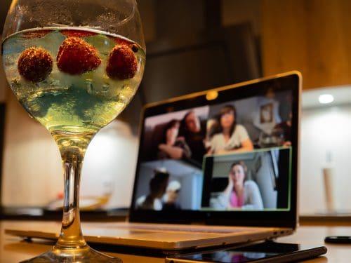 videochamada com amigos