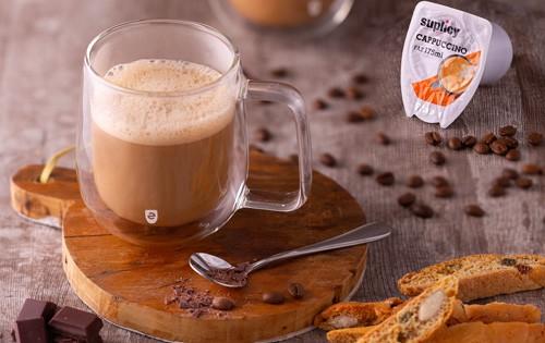 cápsula de cappuccino