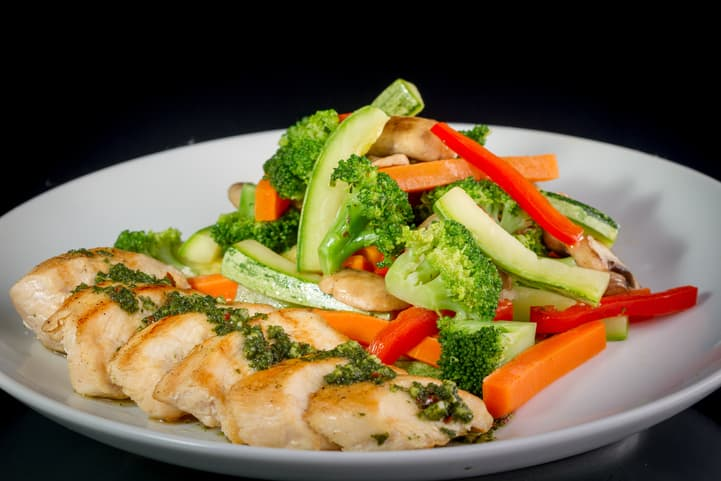 almoço saudável e rápido