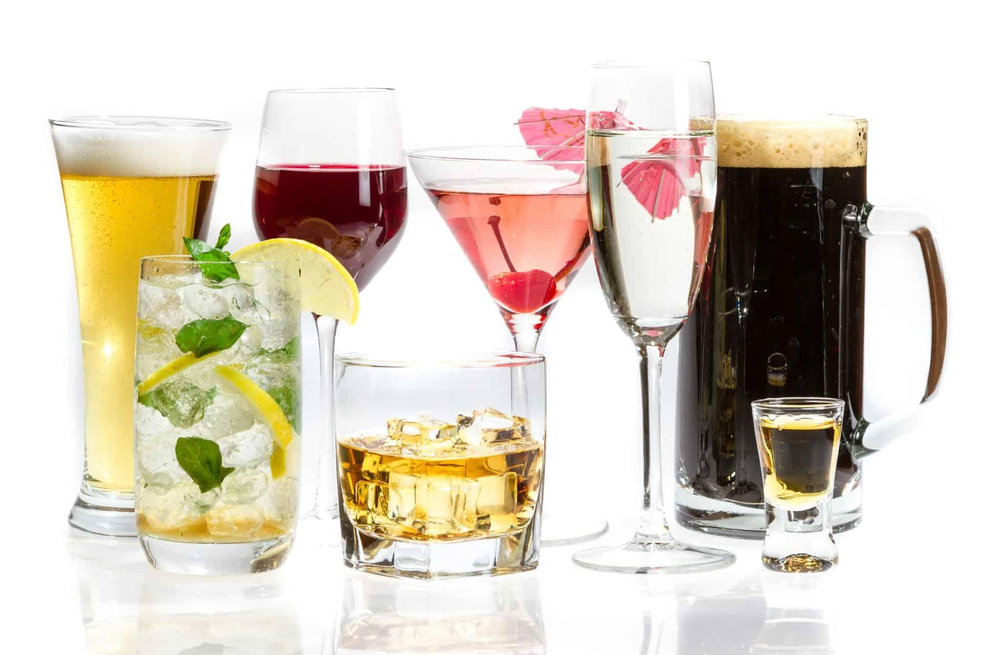 Quais tipos de bebidas alcoólicas você conhece?