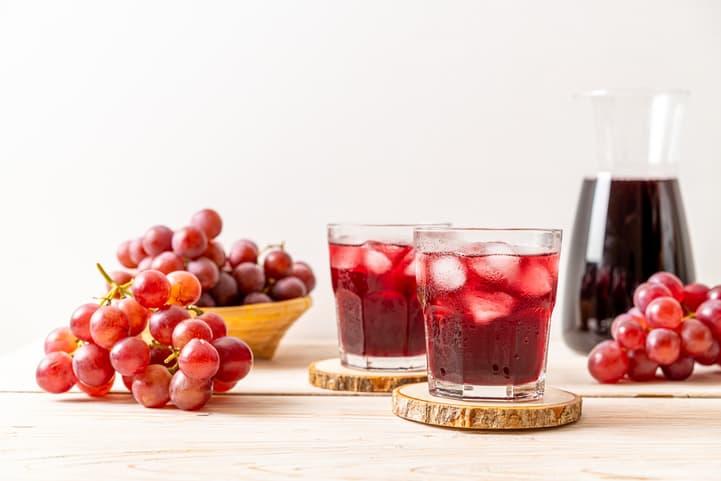 mousse de uva com suco integral
